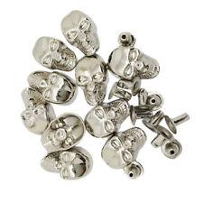Baoblaze 10 Sets Skull Shape Rivets Stud for Bag Jeans Decoration DIY 9x16mm