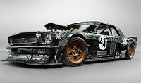 "Ken Block - Ford Mustang Hoonigan Sports Car CANVAS WALL ART ""20x30"" inches"