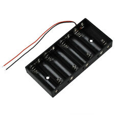 New Plastic 8 X 1.5V AA 2A CELL Battery Holder Storage Box standard 12V Cas B2I1