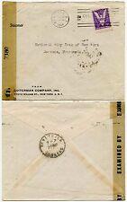 Stati Uniti al Venezuela WW2 1944 censurato... STEAMER stampato BUSTA guiterman co