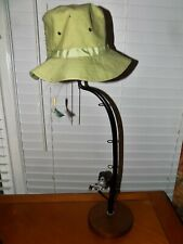 Fishing Rod and Reel Table Lamp With Hat for Shade Fathers Day Gift Idea