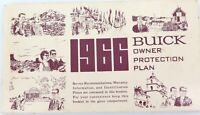 .1966 USA BUICK OWNER PROTECTION PLAN BOOKLET.