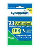Lycamobile 23 Plan Prepaid 1st Month Free SIM Card 1GB 4G Lyca Sim Lycasim card