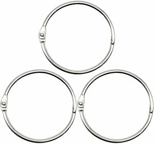 Metal Book Rings Home Zannaki 2 Inch for School Keychain Key Rings Nickel Plated Steel Binder Rings Silver or Office Loose Leaf Binder Rings 50 Pack