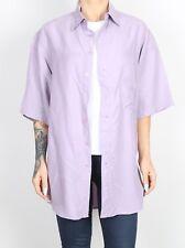 Silk Shirt 90's UK Men's Medium  Women's 14-16 L XL   Oversized 8 10 12   (HDL)