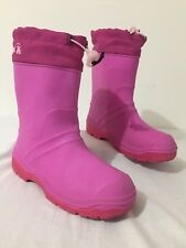 KAMIK Made in Canada Winter Snow Rain Boots w/Felt Liners Fuchsia Size 6