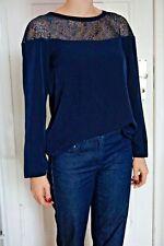 Comptoir des Cotonniers Oberteil Gr. 36/ 38 S/M Neu 125€ Bluse blau Spitze