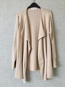 Next Knitwear Cashmere Cotton Waterfall Cardigan Size L