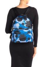 Marc Jacobs Varsity Pom Pom Printed Large Nylon Blue/Black Backpack Retail $275