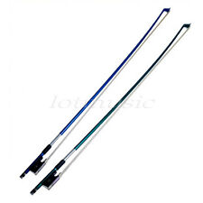 2pcscarbon fiber Violin Bow Stunning Bow 3/4 Violin Bow  blue&green