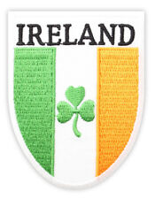 Irish Tricolour Ireland Shield Embroidered Sew-on Cloth Badge Patch Appliqué