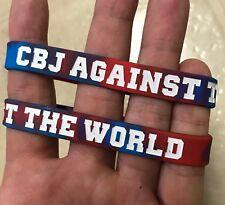 "LOT OF 3 - Columbus Blue Jackets ""CBJ AGAINST THE WORLD"" Wristbands Bracelets"