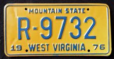 "WEST VIRGINIA "" MOUNTAIN STATE "" 1976 WV Vintage Classic License Plate"