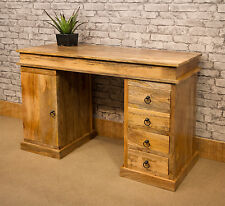 3 Part Mantis Mango Wood Solid Wooden Desk or Dressing Table + 4 drawers MANT336