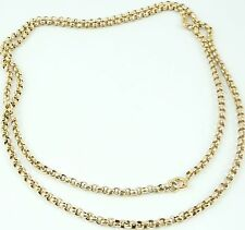 Antico Vittoriano 30 POLLICE 1/2 lunghezza oro 9 carati Orologio Guard CATENA 11.2 G