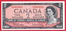 ✪ 1954 $2 Bank of Canada Note Beattie-Rasminsky G/R Prefix 9480560 - AU