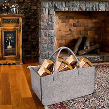 Portable Fireplace Firewood Fire Wood Log Carrier Holder Canvas Caddy Tote Bag