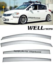 WELLVISORS Side Window Visors Rain Guard For Nissan Versa Hatchback 2007-2011