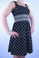 Next Strappy Black Sun Dress Cotton  Broderie Anglaise  Summer Holiday Size 8 AB