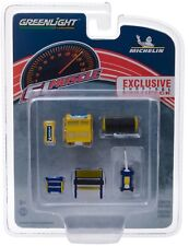 1:64 GreenLight *HOBBY EXCLUSIVE* MICHELIN THEMED 6pc TOOL ACCESSORY PACK NIP