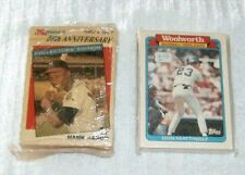 2 Packs of 1987 Topps Baseball Trading Cards KMart 25th Anniversary Woolworth...