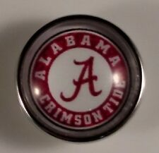 18mm University Fits Ginger Snaps Alabama Crimson Snap College Sport Jewelry