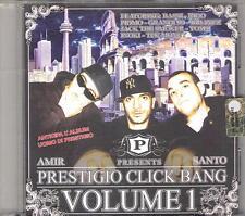 """AMIR / SANTO TRAFFICANTE - RARO CD RAP HIP HOP  """" PRESTIGIO CLICK BANG VOL.1  """""""