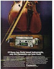 PUBLICITE ADVERTISING 054  1978  USA  PANASONIC    auto radio