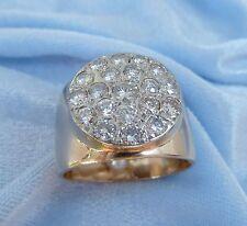 Vintage 14 K Gold Ring W/20 Diamonds, TCW 1.3 carat, Size 9