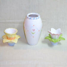 Elegant Blooms - Vase & Taper Candle Holders - Tulip & Daffodil - New