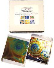 DichroMagic Austin COE96 Tie Dye Far Out Dichroic Glass 6 PC 4 x 4 Inch