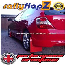 Rally Mudflaps Honda Civic Type R (01-07) Mud Flaps rallyflapZ Red Plain 4mm PVC
