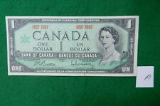 *Canadian 1967 series one dollar bills, bank note circulated 1867 - 1967 # A