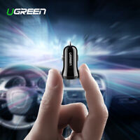 Ugreen Mini USB Car Charger 4.8A Dual USB Fast Charger Adapter for iPhone X XS 8