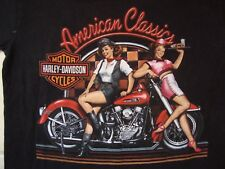 Harley-Davidson Motorcycles Baton Rouge, Louisiana Pin Up Girls T Shirt Size S