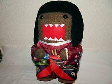 RARE Kimono Princess Style Domo Kun Plush Toy with Tag NHK Brand Licensed