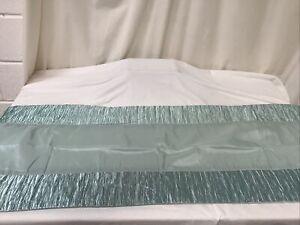 Quilted Bed Runner Duck Egg Blue 150 cmx 50 cm Sateen Feel Single Bed NEW