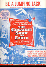 "GREATEST SHOW ON EARTH Sheet Music ""Be A Jumping Jack"" Dorothy Lamour"