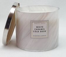 1 Bath & Body Works White Barn White Caramel Cold Brew 3-Wick Candle 14.5 oz