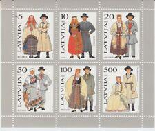 Latvia Block 3 Traditional Costumes (MNH)