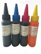 4x100ml Bulk universal refill Dye 400ML Ink bottle for HP Ink Cartridge+Needle