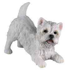 "Westie West Highland White Terrier Dog Figurine 3.75"" Long Polystone New In Box"