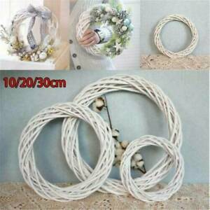 Christmas Artificial Vine Ring Wreath Rattan Wicker Garland Xmas Party Decors US