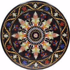 """36"""" Marble Coffee dining Table Pietra Dura Handicraft  Work home furniture"""