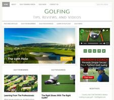 * GOLFING TIPS * niche blog website business for sale w/ AUTO UPDATING CONTENT!