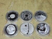 2004 , 6 x 10 Euro Silber PP , Jahrgang komplett