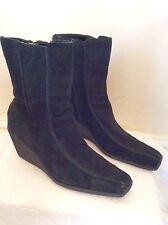 Wedge Mid Heel (1.5-3 in.) Suede Unbranded Boots for Women