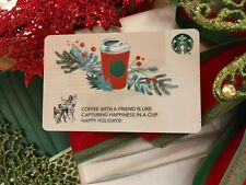 """STARBUCKS  GIFT CARD / CO-BRANDED"""" RED CUP HOLIDAY """" 2017   HAPPY HOLIDAYS!"""