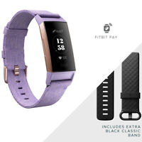 Fitbit Charge 3 Heart Rate + Fitness Band Activity Tracker Lavender Woven SE