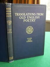 Translations from Old English Poetry edited by Cook and Tinker (hb,1st edn,1902)